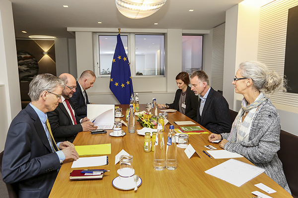 Martin SCHULZ - EP President meets with a small delegation of CONCORD, the European confederation of Relief and Development NGOs