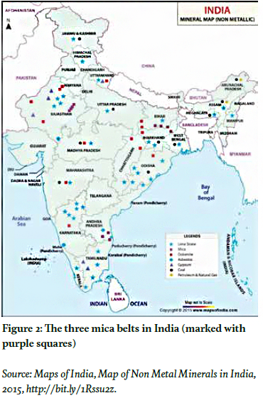 India child labour in mica products terre des hommes map mica mines in india gumiabroncs Images